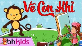 Bé Tập Vẽ Con Khỉ - Hướng Dẫn Trẻ Học Vẽ