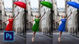 как поменять фон или цвет объекта на фото в Photoshop CC