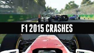 F1 2015 | CRASH COMPILATION