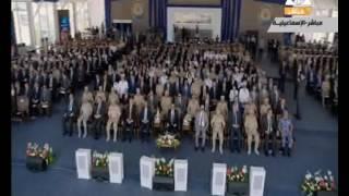 بدء الاحتفال  بالذكرى الأولى لقناة السويس الجديدة بتلاوة آيات من القرآن الكريم