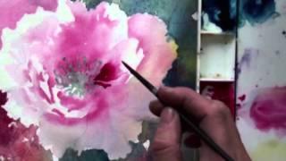 Watercolor with Lian Quan Zhen: Peony & Hummingbird