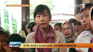Istri Gubernur DKI Jakarta Pantau Posko Pengungsi Banjir