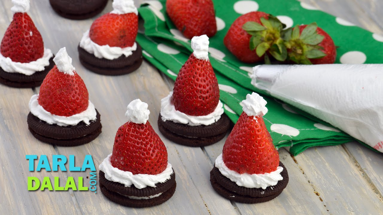 oreo cookie santa christmas recipe by tarla dalal youtube