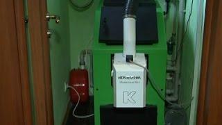 видео Мини баня с использованием внешней печки.