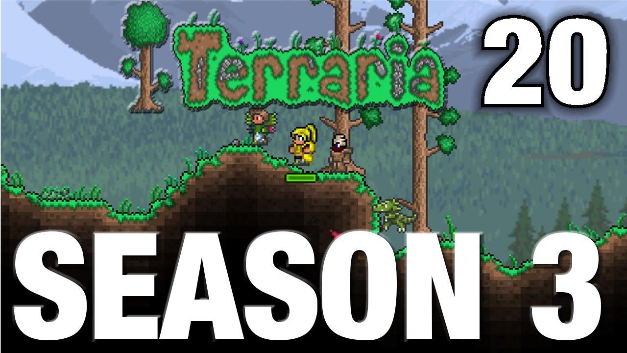 Terraria season 3 20 wood fishing pole let 39 s play for Fishing poles terraria