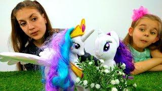 Игры для девочек #Пони Принцесса Селестия. Испытание #Рарити! Видео игрушки #ЛитлПони из Эквестрии
