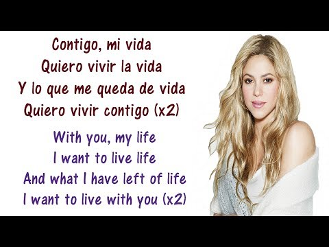 Shakira - Suerte Whenever Wherever  English and Spanish - Translation & Meaning - Letras