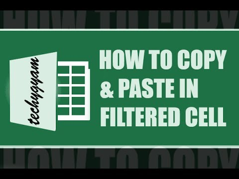 How to copy and paste filtered data using FILL option in excel