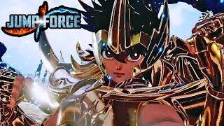 JUMP FORCE - NEW SAINT SEIYA CHARACTER REVEAL TRAILER! Saint Seiya & Shiryu Character Gameplay