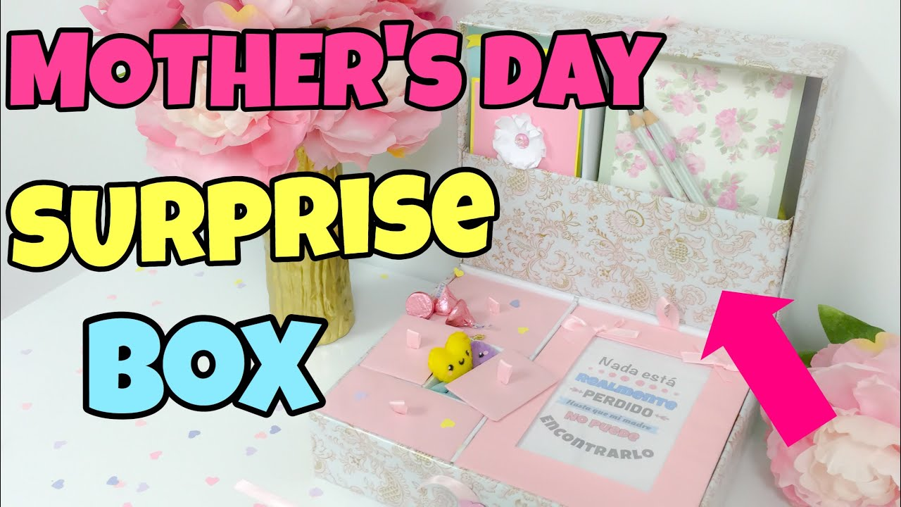 DIY SURPRISE BOX FOR MOTHER´S DAY - YouTube