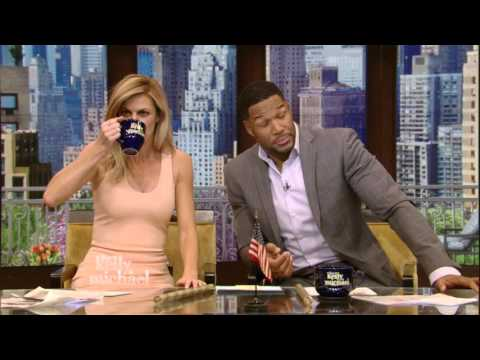 Erin Andrews on Live with Kelly and Michael 4-21-2016 Enough about Milk