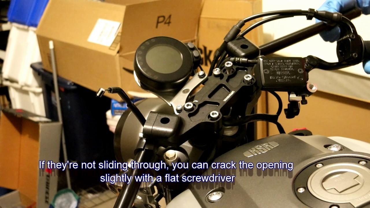 2016 Fz 07 >> Woodcraft clip-ons install on 2016 Yamaha XSR900 (FZ09/MT09) - YouTube