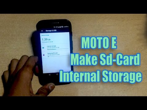 How to make sd-Card as an Internal Storage in MOTO E