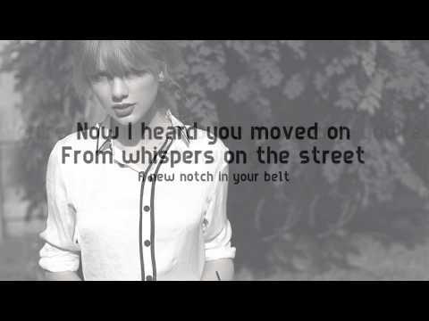 Taylor Swift - I knew You Were Trouble Lyrics Video (2015) 320kbps High Definition