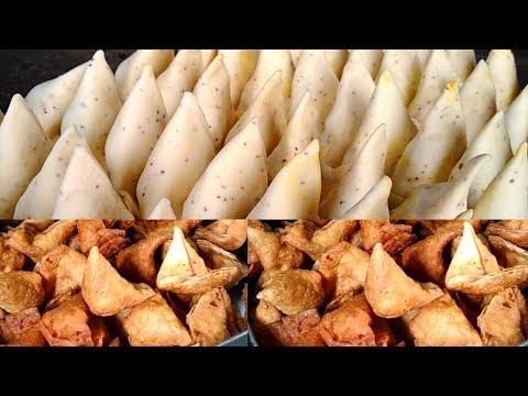 Aloo Samosa Recipe - Best Evening Snack - Potato Samosa Making Video - Indian Street Food Videos