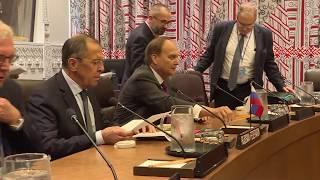 """С.Лавров 🇷🇺 и М.Помпео 🇺🇸 """"на полях"""" 74-й сессии ГА ООН 🇺🇳, Нью-Йорк, 26 сентября 2019 года"""