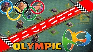 Builder hall Olympics | All Troops Race | Who's the Fastest ? - Clash Of Clans