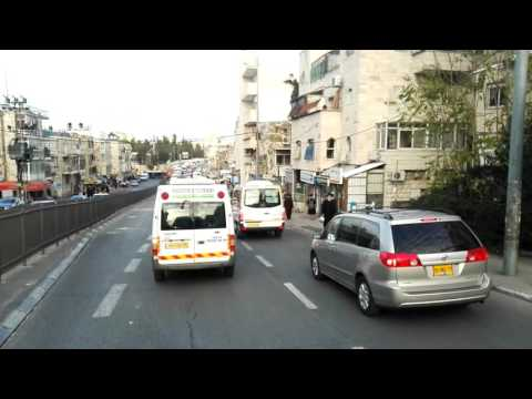 A tour of the neighborhoods of the ultra-Orthodox Jews in Jerusalem Israel