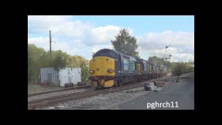 10 DRS Class 37s at Uttoxeter - 22nd September 12