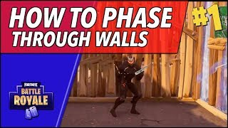 Glitch? How to Jump Through Any Wall and Kill People Inside (Fortnite Battle Royale)