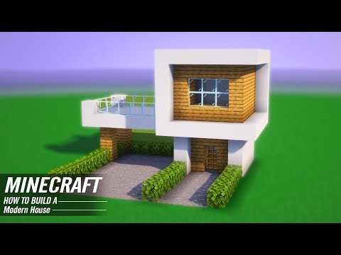 Minecraft Modern House Tutorial : - How to Build a Modern House in Minecraft #3