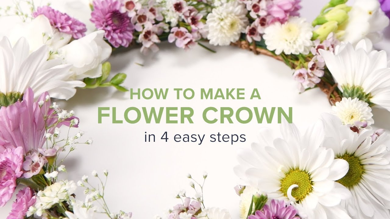 How to make a flower crown in 4 easy steps youtube izmirmasajfo