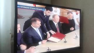 подписание договора об присоединении Крыма к России(, 2014-03-18T12:18:46.000Z)