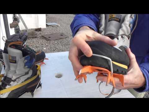 Fitting Petzl Leverlock Crampons to Climbing Boots
