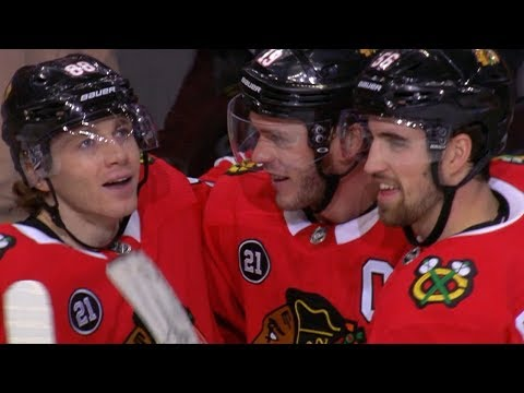 Patrick Kane earns 100th point of the season with assist