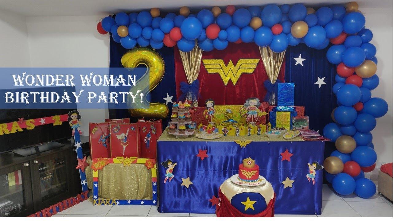 Wonder Woman Party Ideas Diy Wonder Woman Party Superheroes Party Youtube