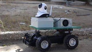 روبوت يستكشف الأماكن الخطرة والأجسام المشبوهة في غزة