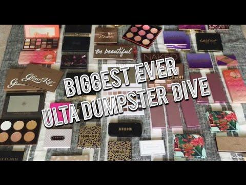 BIGGEST ULTA DUMPSTER DIVE EVER + LIVE DIVE