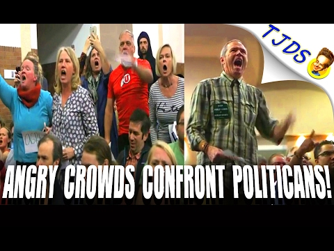 IRATE Crowds Confront Politicians Across The Country