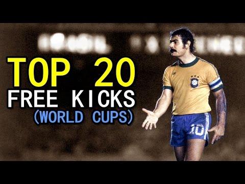 TOP 20 FREE KICKS ● WORLD CUPS