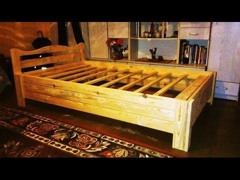 łóżko Drewniane Sosnowe Z Desek Własnej Roboty Jak Zrobić Samemu Poradnik Po Polsku Pl