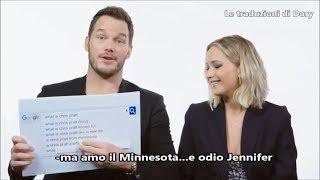 Jennifer Lawrence e Chris Pratt rispondono alle DOMANDE PIU' CERCATE su Google