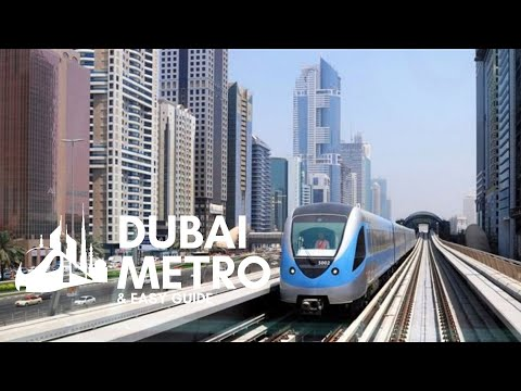 The RTA Dubai metro UAE (مترو دبي) – quick and easy travel from airport to Dubai downtown.