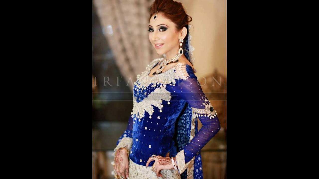 TOP 5 BLUE PAKISTANI BRIDAL DRESSES 2016