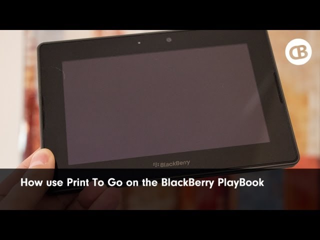 blackberry playbook print to go