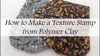 Polymer Clay Scrap Technique: Make Your Own Pebble Texture Stamp