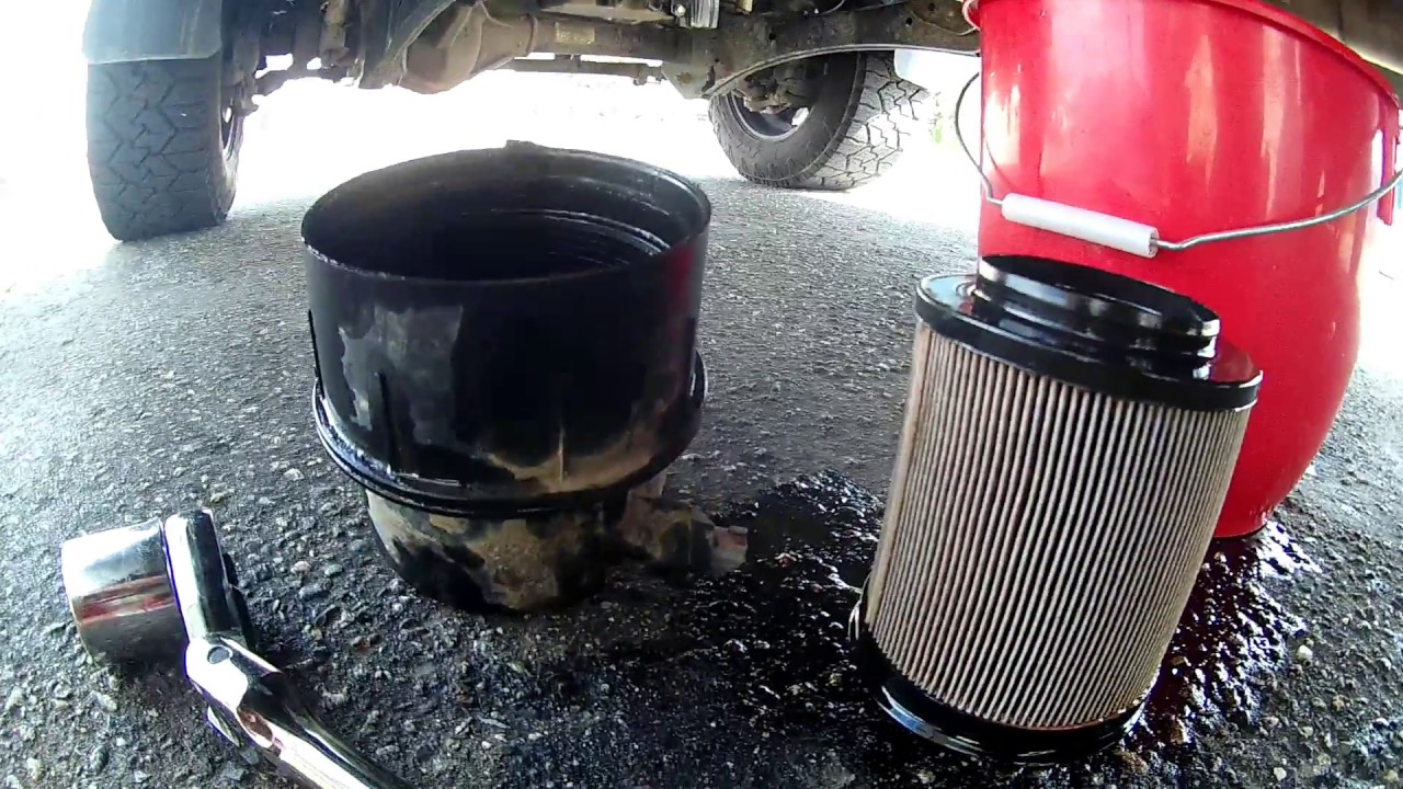 How To Change Fuel Filters On A 2016 67 Powerstroke Youtube Filter