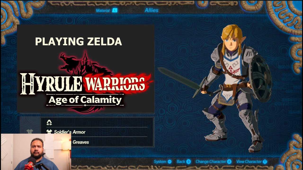 Playing Zelda Hyrule Warriors Age Of Calamity Youtube