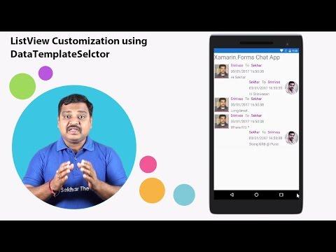 Xamarin Forms ListView Customization using DataTemplateSelector
