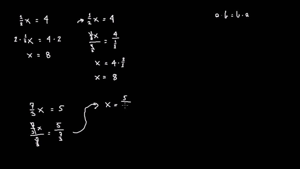 Ligninger 5: Den ubekendte ganget på en brøk