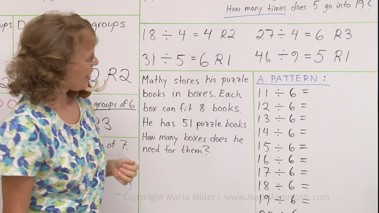 hight resolution of Division with remainders: practice (3rd /4th grade math) - YouTube
