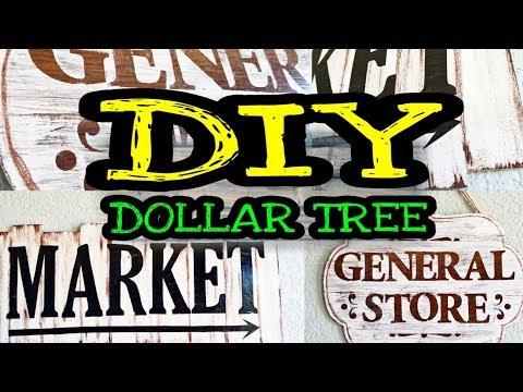 Dollar Tree DIY Farmhouse Decor / DIY Farmhouse Kitchen Decor