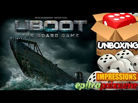 UBOOT The Board Game - Unboxing Video (EN) by Epitrapaizoume