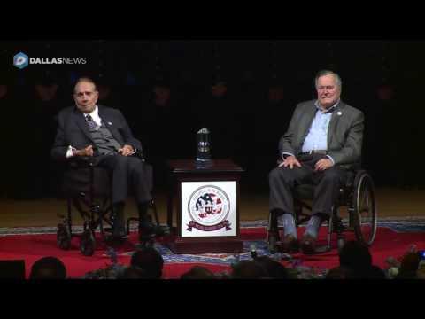 Bob Dole and George H.W. Bush help Texas A&M commemorate Pearl Harbor