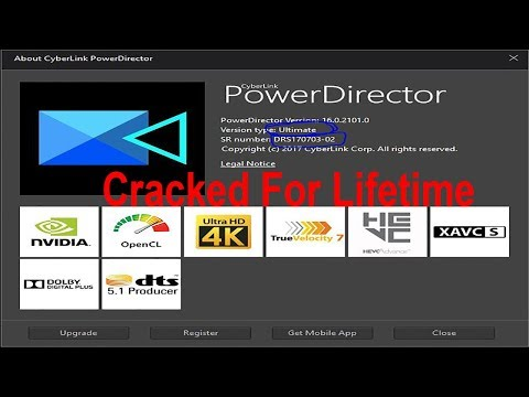 Cyberlink PowerDirector 16 Ultimate & Ultra Lifetime Activation. 100% Work. 2018