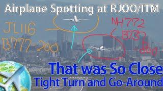 ニアミス?ぎりぎりのゴーアラウンド!!台風接近中の伊丹空港RW14 thumbnail